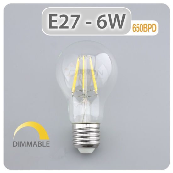 Edison LED Globe Light 4W 6W 8W Lamp B22 E27 A60 Dimmable Vintage LED Bulb pictures & photos