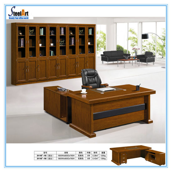 Office Furniture Wooden Luxury Design Boss Table FEC 3116