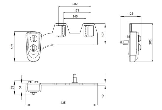 Non-electric Manual Single Nozzle Toilet Bidet(HB723) pictures & photos