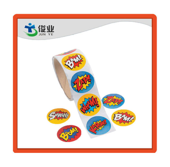 Various Design Paper Sticker/Customized Circular Label pictures & photos