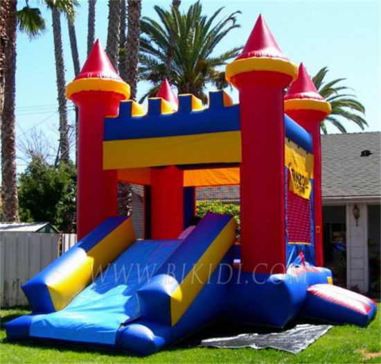 Hot Sale Inflatable Bouncer, Inflatable Castles with Slide B1087