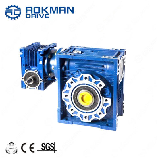 Flange Mounted Aluminum Alloy Nmrv Series Worm Gearbox