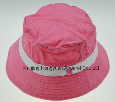 100% Cotton Plain Bucket Hat with Embroidery (HY061502) pictures & photos