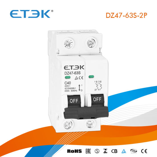 China 2 Number of Poles 10A to 16A 4 5ka DIN Rail Type Economic Mini