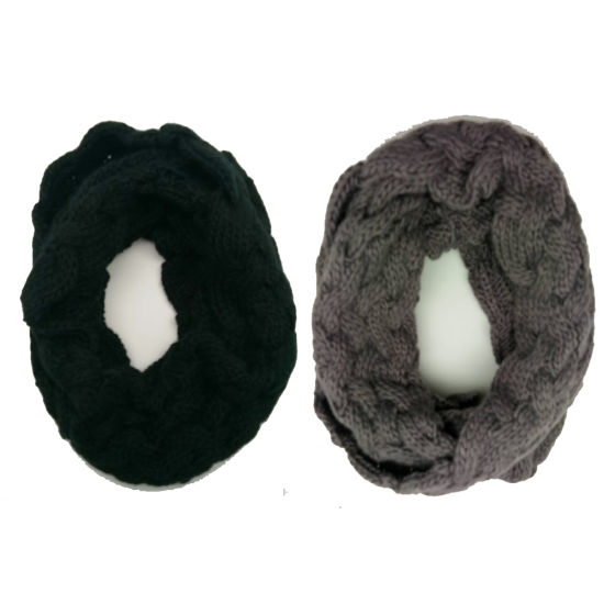 Lady Fashion Knitting Chunky Cable Infinity Scarf pictures & photos