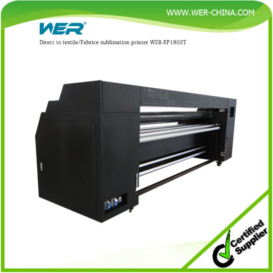 Cheap and Good Quality Direct Sublimation Fabric Printing Machine Wer-E1802t