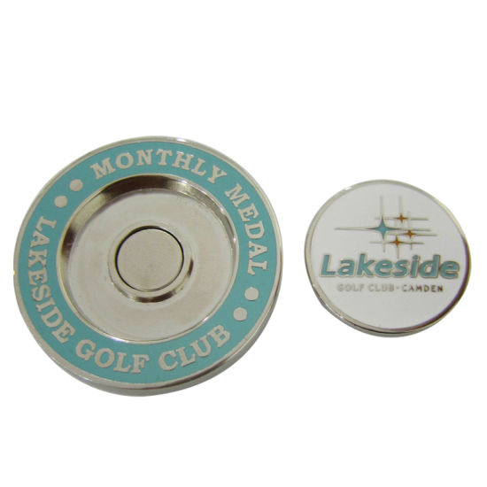 ac5ef5281b5 Wholesale Manufacturer Customized Lakeside Golf Club Poker Chip Magnetic  Metal Iron Enamel Ball Marker for Hat