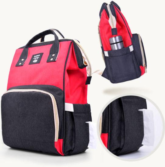 Popular Multi-Colors Mommy Shoulder Bag Nappy Backpack Bag Baby Bag