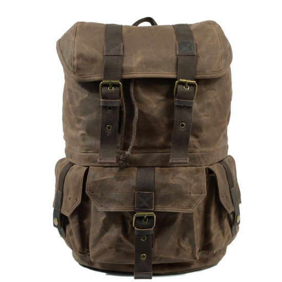 Water Repellence Canvas Tactical Backpack Military Sport Daily Bag (RS-9157) pictures & photos