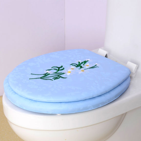 Amazing Eco Friendly Embroidery Easy Clean Adult Soft Toilet Seat Cover Pdpeps Interior Chair Design Pdpepsorg