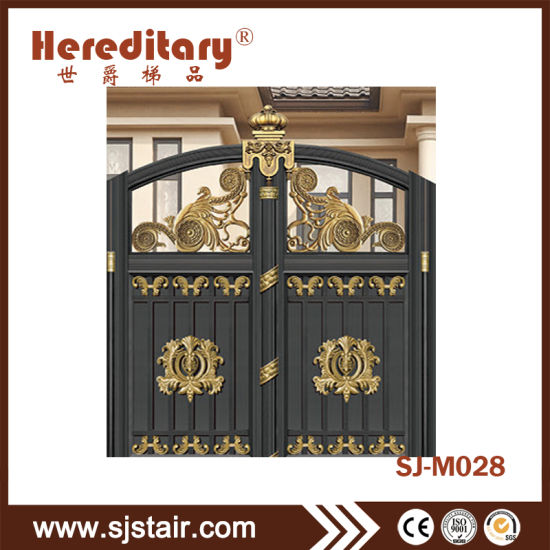 . China Modern Gray Color Aluminum Main Entrance Gate Design with