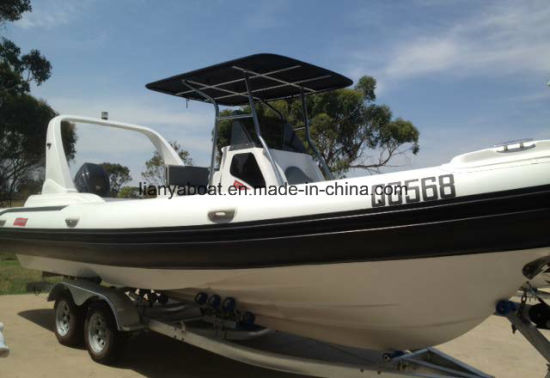 Liya 24.6FT Fiberglass Inflatable Cabin Yacht Passenger Rib Boat
