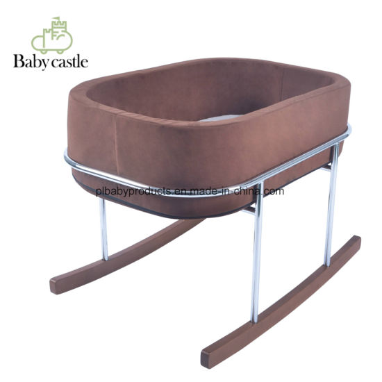 New Born Folding Baby Crib Infant Cot Playpen Baby Crib Wood Bed with Ce Certificate