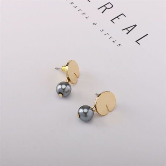 China Factory Hot Selling Wedding Pearl Stud Gold Plated