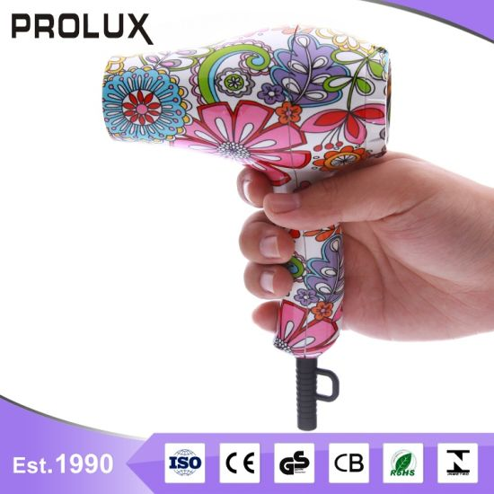 Mini Travel Flower Pattern Hair Dryer Rg8006
