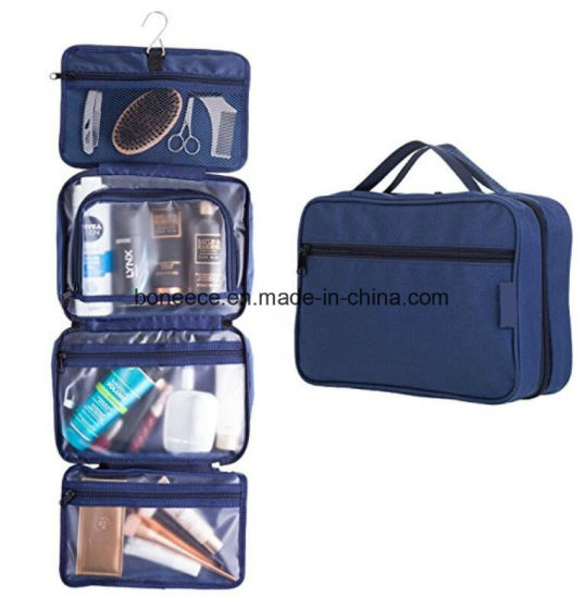 6807d9eaee Multi-Pockets Hanging Cosmetic Makeup Kit Toiletry Travel Bag with Zipper  Pockets