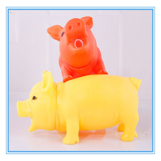 Non-Toxic Pig Shape Soft Plastic Pet Toys for Dog Can Make Sound pictures & photos