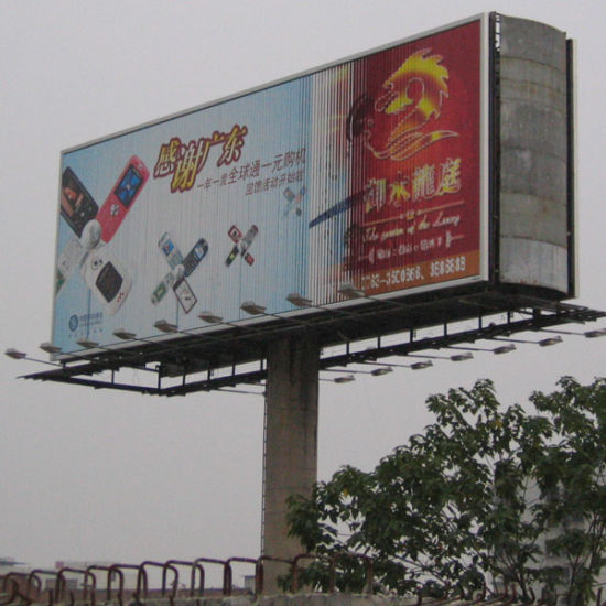 Road Outdoor Unipole Rotating Double-Side Billboard (F3V-131S) pictures & photos