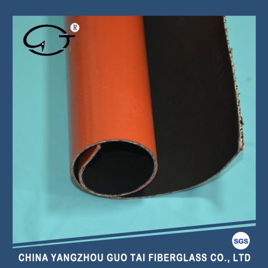 Custom Both Side Different Color Silicone Fiberglass Fabric pictures & photos
