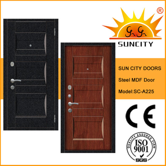 Yongkang Factory Steel MDF Armored Security Door