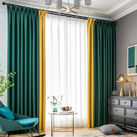 China Latest Curtain Designs For Dining, Living Room Curtain