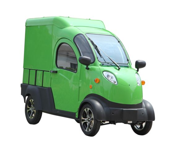 2500W Cargo 4 Wheeler Closed Electric Van Pick up with Rear Box pictures & photos