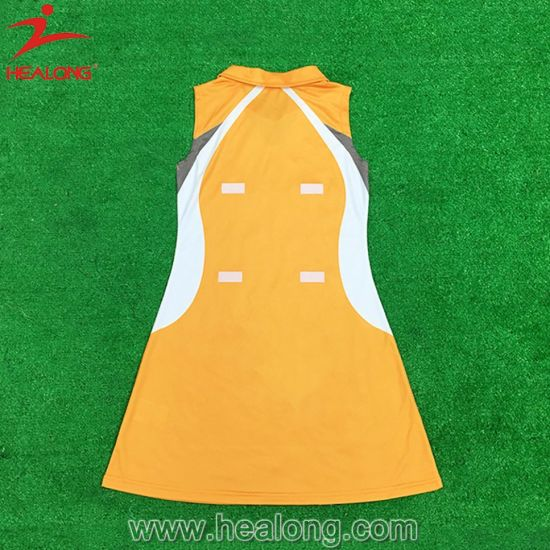 Custom Full Sublimation Womens Team Sports Gear Clothing Netball Dresses pictures & photos