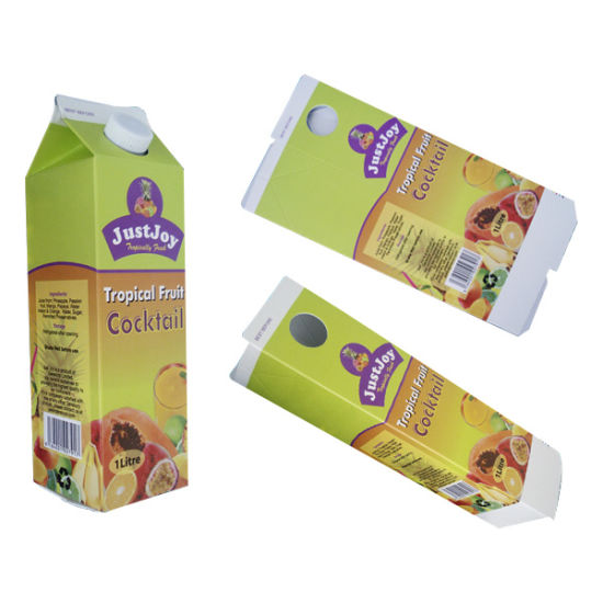 Mini500ml Orange Juice Gable Top Carton with Curved pictures & photos
