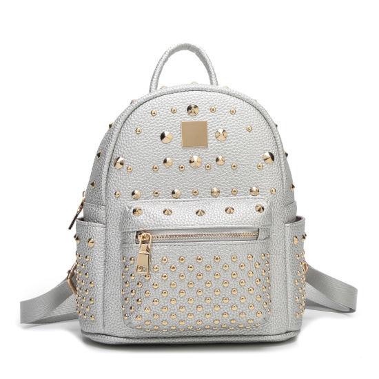 Wholesale Fashion White Rivet School Back Pack Ladies Bag pictures   photos 7cd80d6460