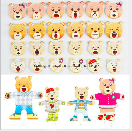 Puzzle Game Magnetic Stickers Wooden Toy DIY pictures & photos