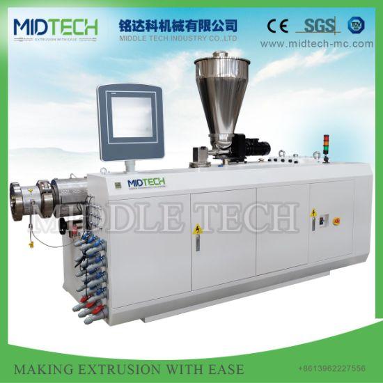 China Plastic Conical Extruder Upvc Pvc 63 160 Single