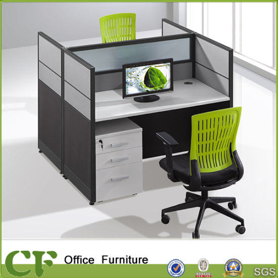 Modular 2 Person Office Cubicle Workstation
