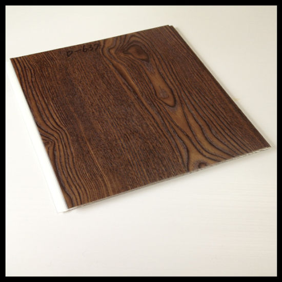 Deep Wooden Color 250*8mm Lamianted PVC Wall Panels (HN-2520)