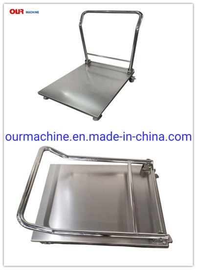 500kg Stainless Steel Foldable Hand Cart Platform Trolley for Warehouse