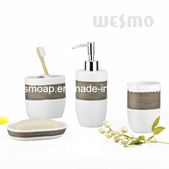 Hand Brush Painting Porcelain Bathroom Set (WBC0810B)