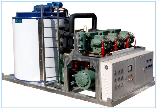 Top Manufacturer Flake Ice Machine with Bitzer Compressor for Food Processing pictures & photos