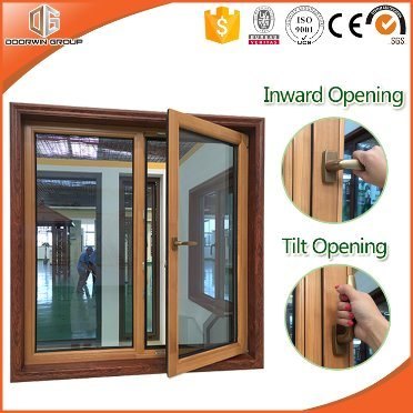Aluminum Clad Solid Pine Wood Tilt & Turn Window Inward Openning Window, Better Heat-Insulation Double Glazing Glass pictures & photos