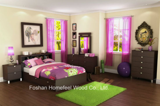 Kids 5 Pieces Bedroom Furniture Set, Girl Teenage Bedroom Furniture