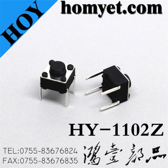 High Quality Tact Switch 6*6mm Round Button 4pin (DIP)