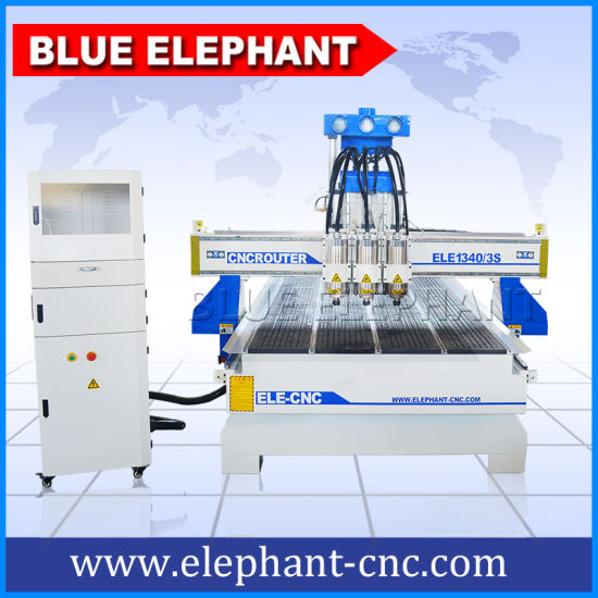 China 3 Spindle Woodworking CNC Router with Dust Collection From CNC Router Factory pictures & photos