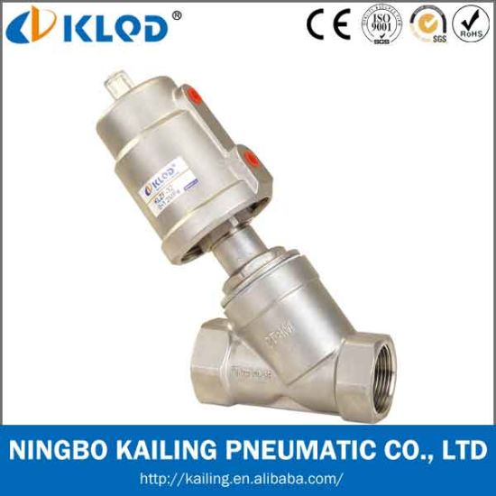 Stainless Steel Pneumatic Control Piston Angle Seat Valve pictures & photos