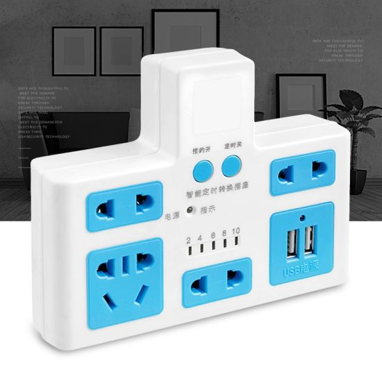 Power Electric Socket Power Timing Converter Strip Outlet with USB