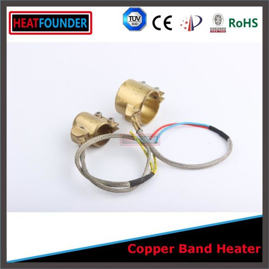 25X40mm 250W Industrial Brass Nozzle Band Heater with 2 Wires pictures & photos
