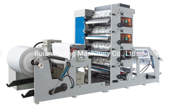 4 Color 850mm Model Paper Cup Printing Machine with Separate Unwind
