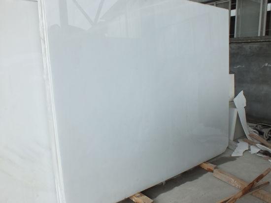 Construction & Decoration White Marble Polished/Honed Flooring  Tiles/Slabs/Countertops for Kitchen/Bathroom/Basement/Apartment/Villa