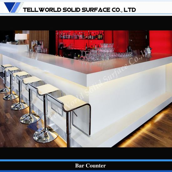 China Tw Cafe Bar Design Free Standing Modern Bar Counter - China ...