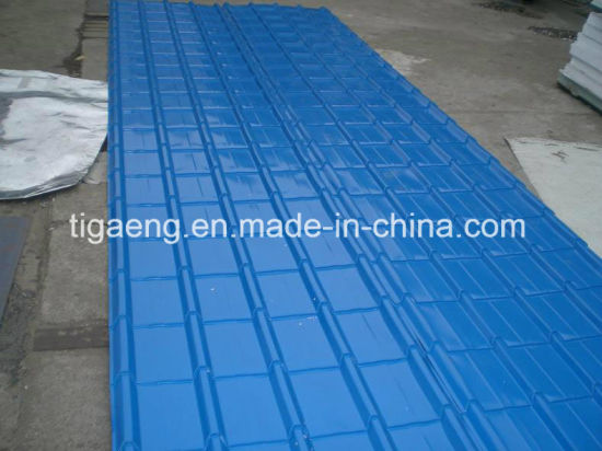 Glazed Color Metal Roofing Stepped PPGI/PPGL Roof Tile in Africa pictures & photos