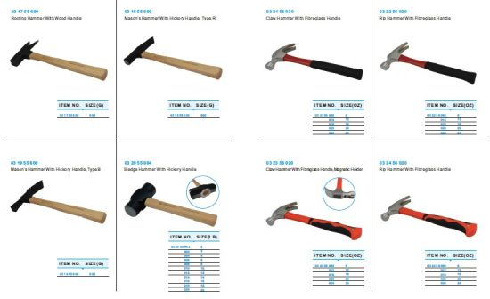 Roofing Hammer with Wood Handle (03 17 55 600) pictures & photos