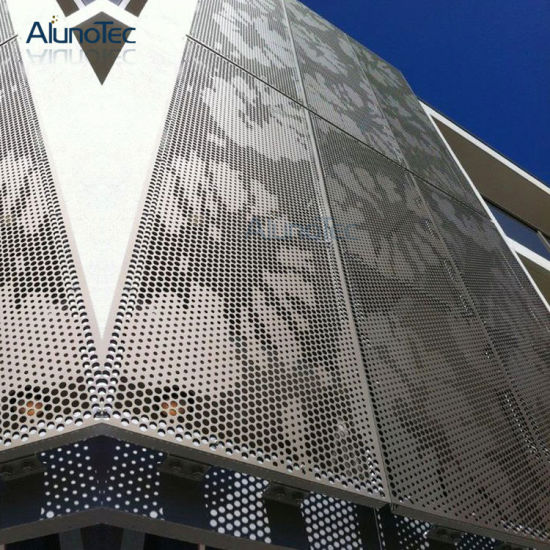 China Perforated Metal Cover Aluminum Facade Panel For