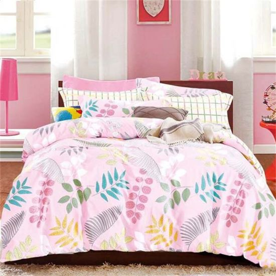 China Floral Cotton Bed Sheets With Pillows Cover King Size China